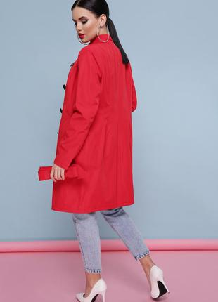 Красный,стильный тренч,плащ ,nexx