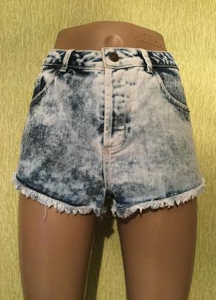 Шорты джинсовые варёнки topshop размер 10