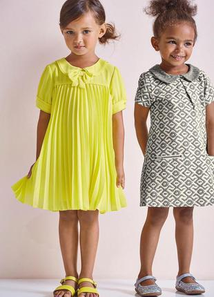 Стильное платье next на 2-3годика