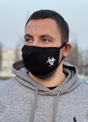 Защитная маска черная Biohazard mini