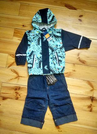 Набор на мальчика 6-12 мес.-куртка-дождевик lupilu и джинсы na...