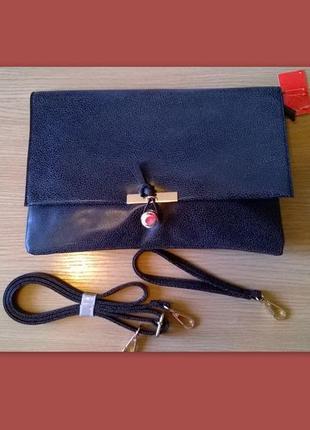 Темно-серый аккуратный клатч конверт сумка кроссбоди раоlo tru...