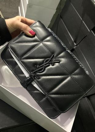 Женская сумка кожа в ст. yves saint laurent ив сен лоран