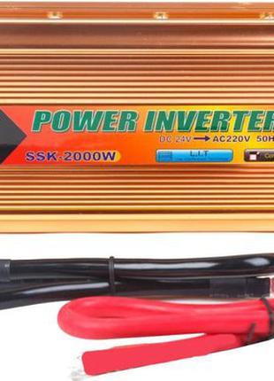 Преобразователь напряжения(инвертор) 24-220V 2000W