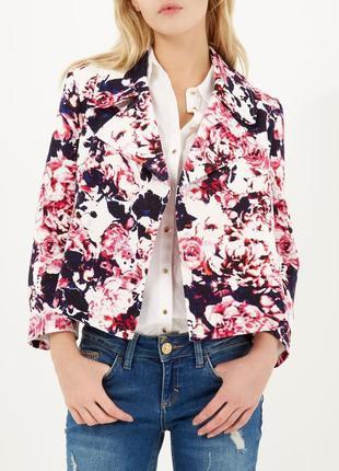 Эффектная куртка жакет р.м river island цветочный принт