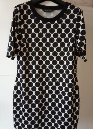 Красивое платье джерси р.м в горох dorothy perkins