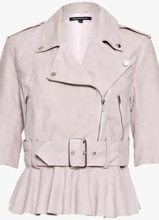 Супер кожаная куртка курточка косуха кожанка,натуральный замш ...