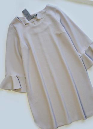 Нежное платье с красивыми рукавами