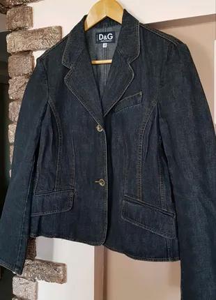 Джинсовая женская куртка пиджак D&G, Италия. Оригинал! Новая.