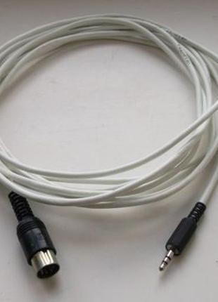 Аудио-кабель стерео 3.5 jack - DIN-5 разборной 5 метров качество