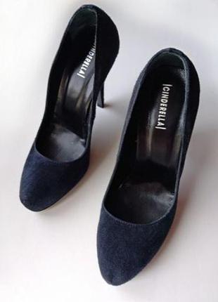 Замшевые женские туфли лодочки – 37 размер Cinderella