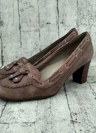 Практичные туфли ecco, 38р, оригинал, натуральная кожа
