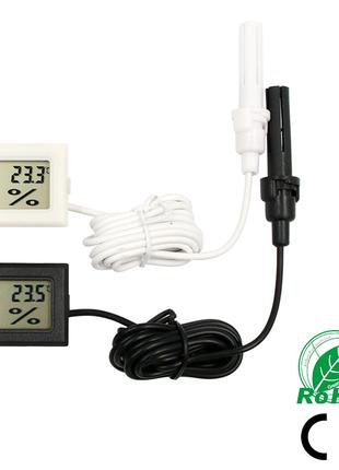 Гигрометр автомобильный и для дома (+термометр, + 2 батарейки) 1.