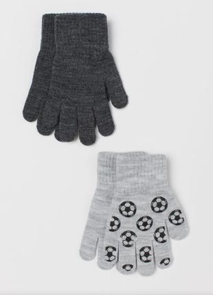 Перчатки варежки поштучно футбол  h&m