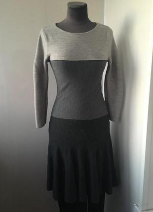 Тёплое милое шерстяное платье, натуральная шерсть мироноса