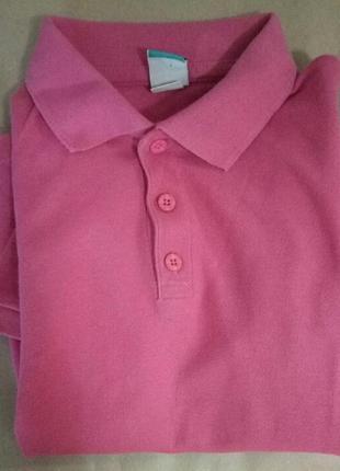 Розовая футболка, поло, детское поло, детская розовая футболка