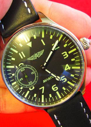 Механические наручные часы марьяж AVIATOR. Молния.Калибр 3602.