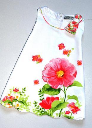 Mayoral. очень красивое платье с цветком. 12 мес. рост 80 см. ...