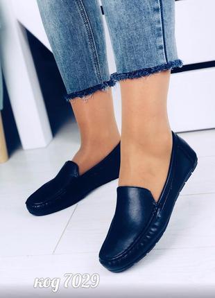 Кожаные балетки мокасины натуральная кожа туфлі натуральна шкі...