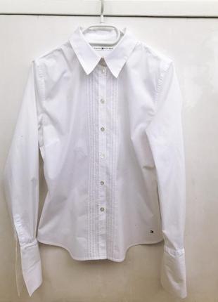 Оригинальная белая рубашка tommy hilfiger