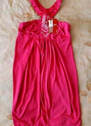 Стильное молодёжное розовое платье ostin, 44 размер