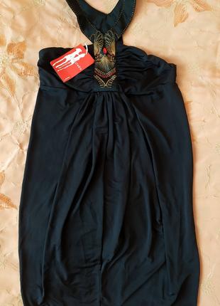 Стильное молодёжное чёрное платье ostin, 44 размер