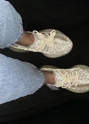 Кроссовки adidas yeezy 350 ludmark с рефлективным покрытием (в...