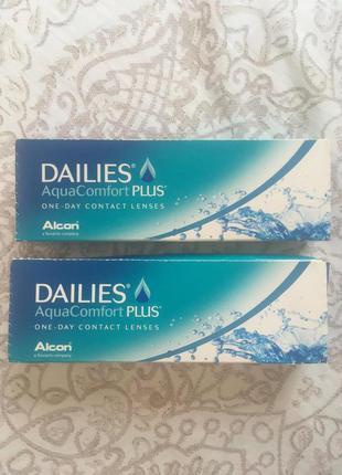 Линзы контактные ежедневные Dailies Alcon -3,75 и -4,75