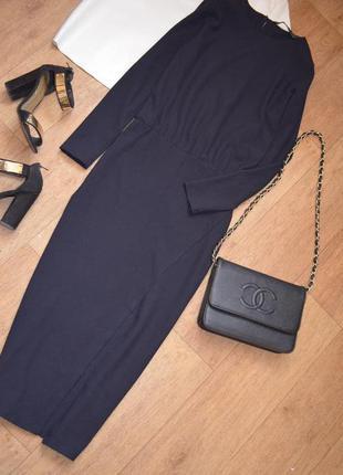 Zara платье миди длинное футляр по фигуре с разрезом с лдинным...