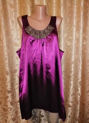 🌺🎀🌺красивая новая женская атласная блузка, майка 26 размер e.🔥🔥🔥