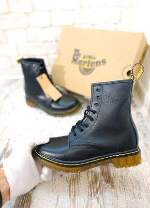 Женские кожаные сапоги/ ботинки dr. martens черного цвета 😍 (д...