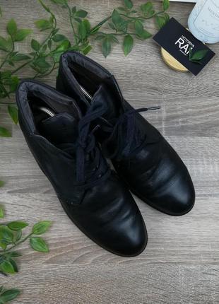 🌿37🌿pretty&fair. кожа. фирменные ботинки на шнуровке