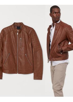 Мужская куртка из эко кожи