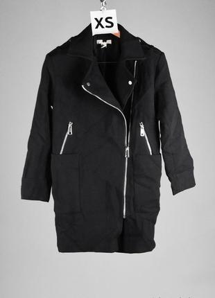Стильное пальто-косуха с накладными карманами тёплое