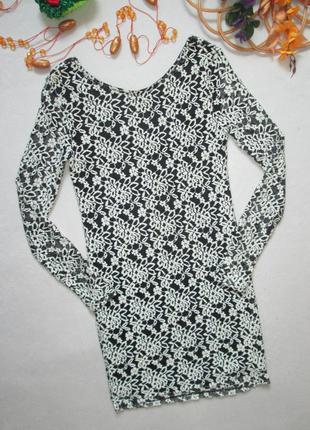 Шикарное нарядное ажурное кружевное стрейчевое мини платье с д...