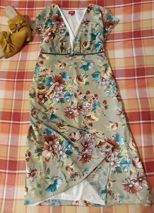 Платье- сеточка в цветочный принт