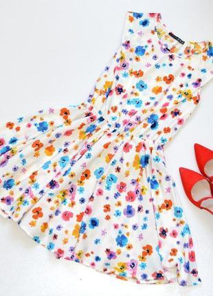 Удивительное платье в цветочный  принт, красивое летнее платье...