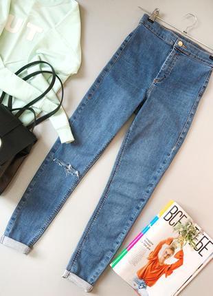 Z111 джинсы скинни высокой посадки topshop