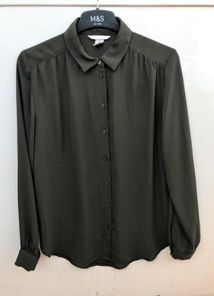 Шифоновая хаки блузка