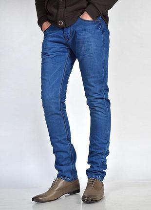 Мужские зауженные джинсы слим, узкачи, чоловічі джинси завужен...