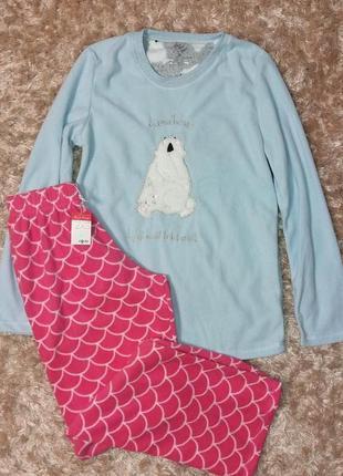 Флисовая пижама или костюм для дома primark, анг. 4-6 р. (евро...