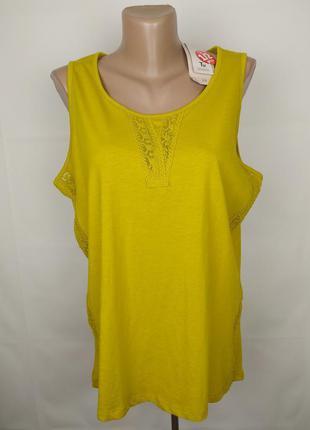 Блуза новая стильная хлопковая с кружевом tu uk 16/44/xl