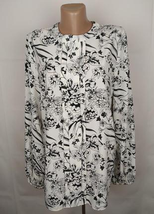 Блуза красивая легкая цветочная tu uk 16/44/xl