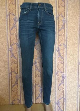 Синие джинсы supper skinny hollister, p.w28, l30