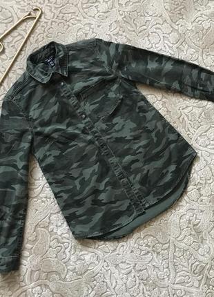 Рубашка джинсовая под комуфляж оригинал