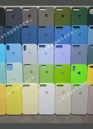 Silicone Case для Apple iPhone 6 6s 7 8 X Xs XR 11 pro max plus