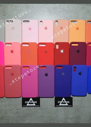 Чехол Silicone case Cover iPhone 6 6s 7 8 X XR Xs 11 pro max plus