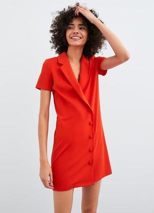 Красное платье от  zara