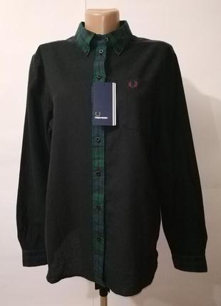 Рубашка блуза хлопковая новая оригинальная fred perry uk 14/42/l