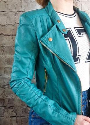 Изумрудная куртка косуха. l.b.c  l 'olive verte